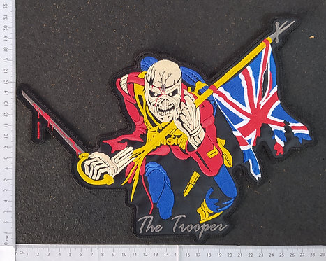 IRON MAIDEN - THE TROOPER EMBROIDERED BACK PATCH