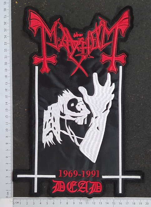 MAYHEM - DEAD EMBROIDERED BACK PATCH