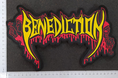 BENEDICTION - LOGO SHAPED EMBROIDERED BACK PATCH