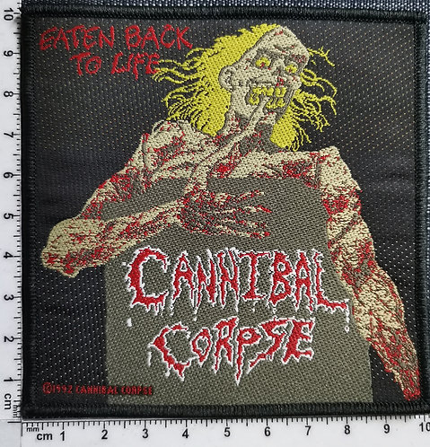 CANNIBAL CORPSE - Eaten Back to Life 1992  Woven Patch
