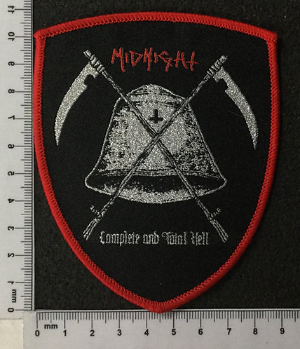 MIDNIGHT - COMPLETE AND TOTAL HELL WOVEN PATCH