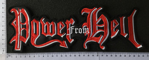 POWER FROM HELL - LOGO Back Patch