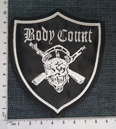 BODY COUNT SHIELD- EMBROIDERED PATCH