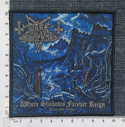 DARK FUNERAL - WHERE SHADOWS FOREVER REIGN WOVEN PATCH