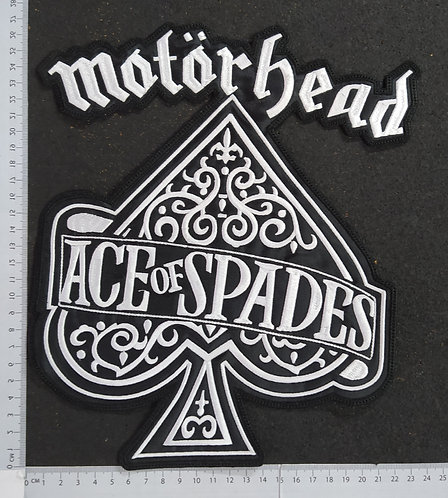 MOTORHEAD - ACE OF SPADES SHAPE EMBROIDERED BACK PATCH
