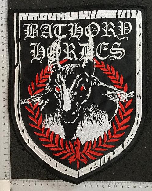 BATHORY - HORDES EMBROIDERED BACK PATCH