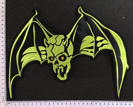 OVER KILL - BAT EMBROIDERED BACK PATCH