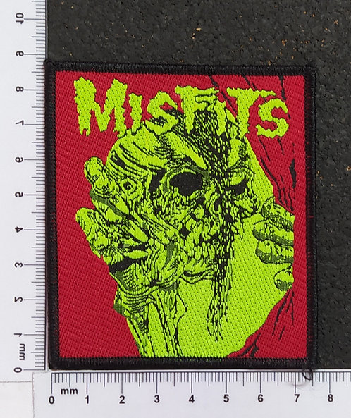 MISFITS - GREEN RED WOVEN PATCH