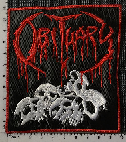 OBITUARY - SKULL EMBROIDERED PATCH