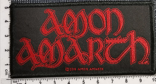 AMON AMARTH - Red Logo Woven Patch