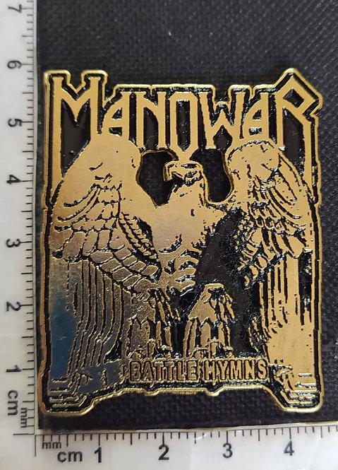 MANOWAR BATTLE HYMNS - GOLD Metal Pin