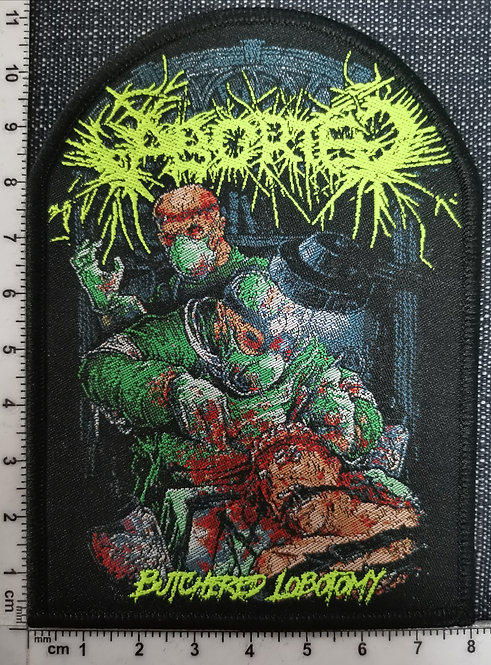 ABORTED - Butchered Lobotomy Woven Patch