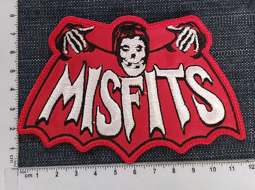 MISFITS - RED BAT EMBROIDERED PATCH