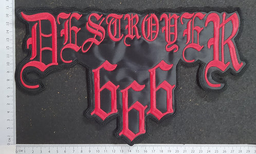 DESTROYER 666 - LOGO EMBROIDERED BACK PATCH
