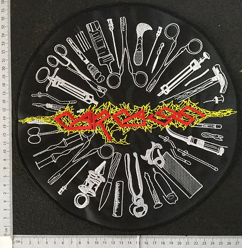 CARCASS - LOGO TOOLS ROUND EMBROIDERED BACK PATCH