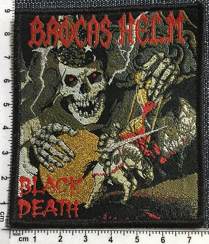 BROCAS HELM - Black Death Woven Patch