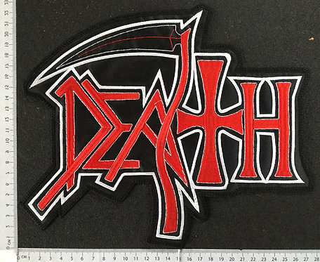 DEATH - NEW LOGO EMBROIDERED BACK PATCH