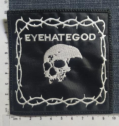 EYEHATEGOD - SKULL LOGO EMBROIDERED PATCH