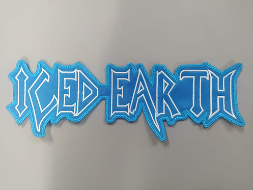 ICED EARTH - OUTLINE LOGO EMBROIDERED BACK PATCH