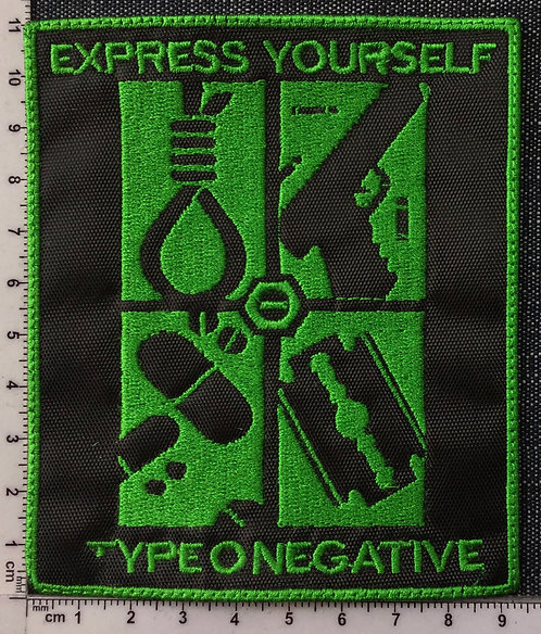 TYPE O NEGATIVE - EXPRESS YOURSELF EMBROIDERED PATCH