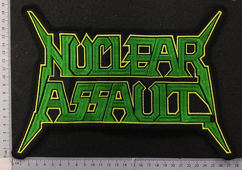 NUCLEAR ASSAULT - LOGO EMBROIDERED BACK PATCH