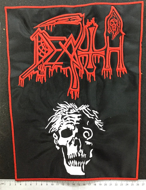 DEATH - SCREAM EMBROIDERED BACK PATCH