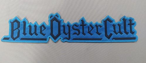 BLUE ÖYSTER CULT - SHAPED LOGO EMBROIDERED BACK PATCH
