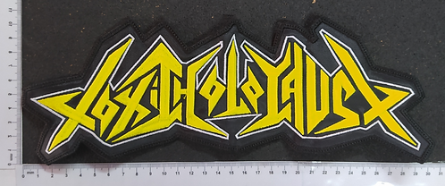 TOXIC HOLOCAUST - YELLOW/WHITE LOGO EMBROIDERED BACKPATCH