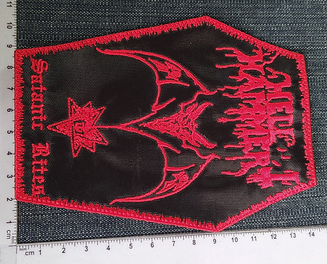 HELLHAMMER - SATANIC RITES EMBROIDERED PATCH