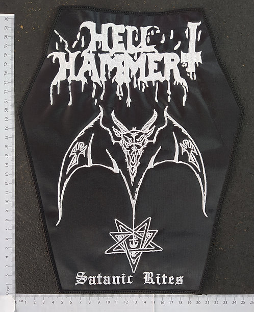 HELL HAMMER - SATANIC RITES EMBROIDERED BACK PATCH