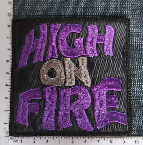 HIGH ON FIRE - SQUARE LOGO EMBROIDERED PATCH