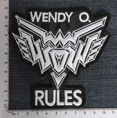 WENDY O. WILLIAMS - RULES EMBROIDERED PATCH