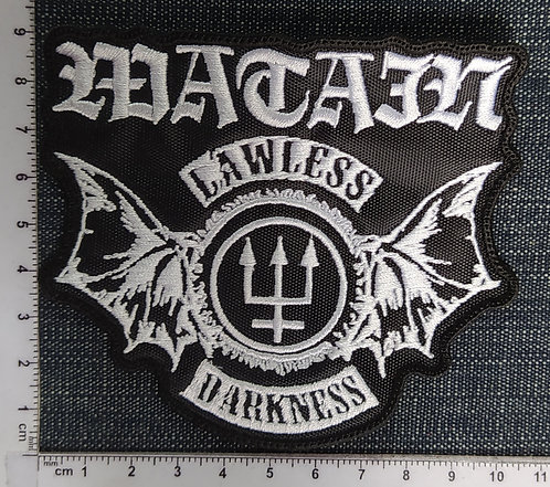 WATAIN - LAWLESS DARKNESS SHAPE EMBROIDERED PATCH
