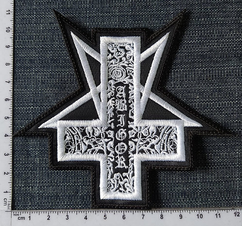 ABIGOR - INVERTED CROSS EMBROIDERED PATCH