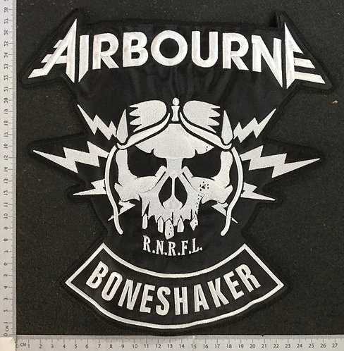 AIR BOURNE - BONESHAKER EMBROIDERED BACK PATCH