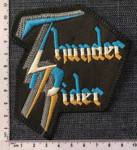 THUNDER RIDER - LOGO SHAPE EMBROIDERED PATCH