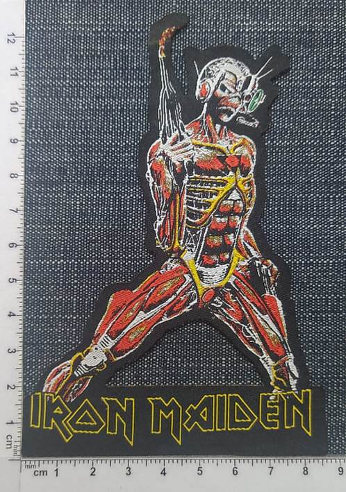 IRON MAIDEN - SOMEWHERE IN TIME (SHAPED) WOVEN PATCHE