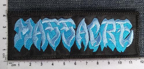 MASSACRE - BLUE LOGO EMBROIDERED PATCH