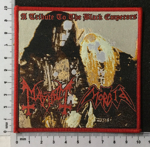 MORBID, MAYHEM - A TRIBUTE TO THE BLACK EMPERORS WOVEN PATCH