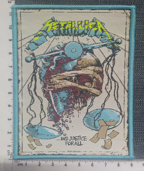 METALLICA - AND JUSTICE FOR ALL... WOVEN PATCH