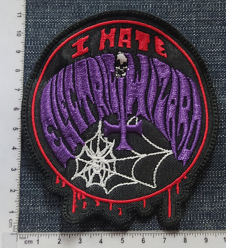 ELECTRIC WIZARD - I HATE LOGO EMBROIDERED PATCH