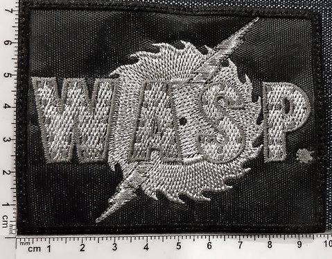 WASP - SILVER SAW LOGO Patch
