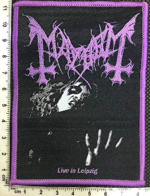 MAYHEM - LIVE IN LEIPZIG WOVEN PATCH