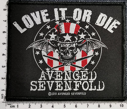 AVENGED SEVENFOLD - Love it or Die  Woven Patch