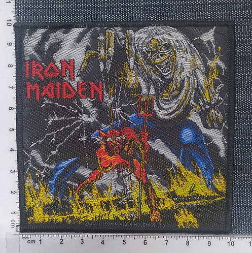 IRON MAIDEN - THE NUMBER OF THE BEAST WOVEN PATCH