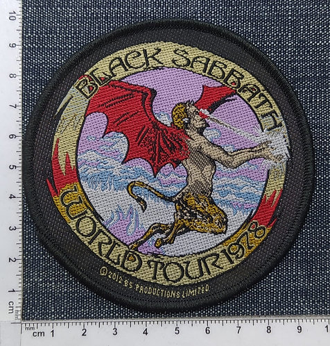 BLACK SABBATH - World Tour 1978 Woven Patch
