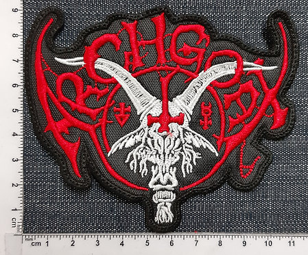 ARCHGOAT - WHITE /RED SHAPED LOGO