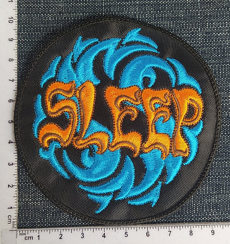 SLEEP - CIRCLE LOGO EMBROIDERED PATCH