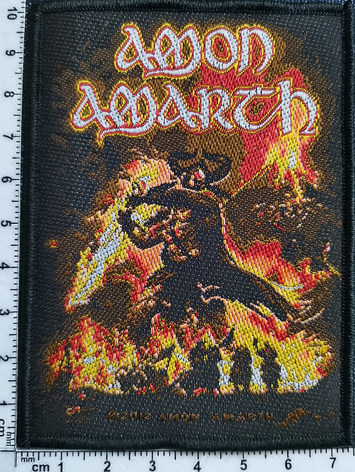 AMON AMARTH - Saturn Rising Woven Patch