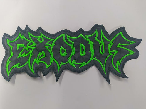 EXODUS - SHAPED OUTLINE LOGO EMBROIDERED BACK PATCH